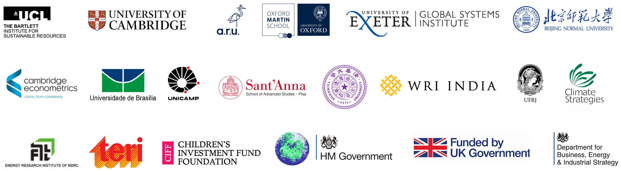 A selection of EEIST partner logos