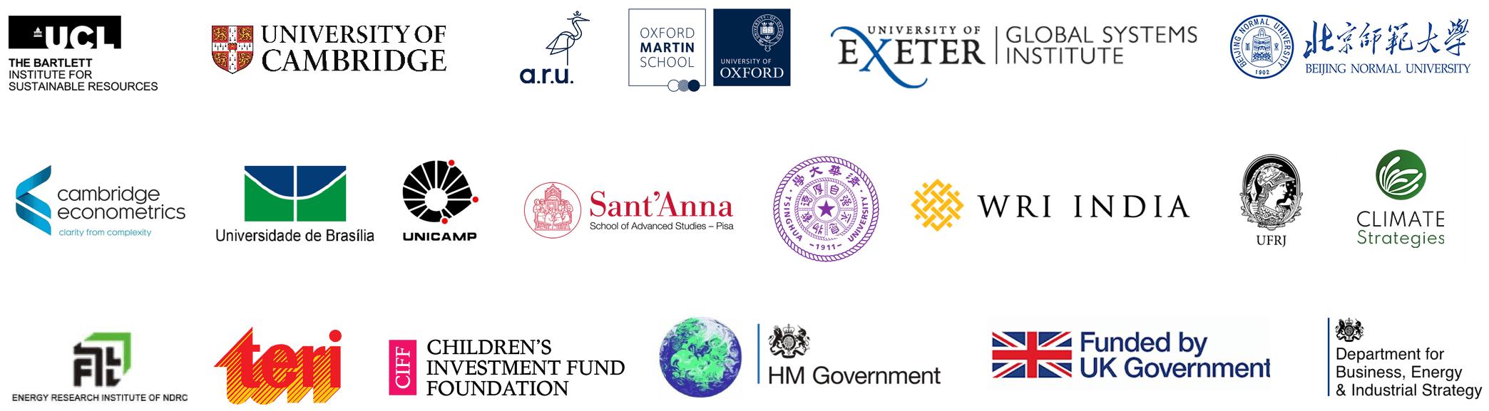 A selection of EEIST partner logos
